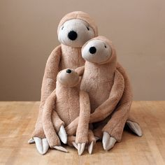 Big Spotty Sloth stuffed animal toy for children by andreavida