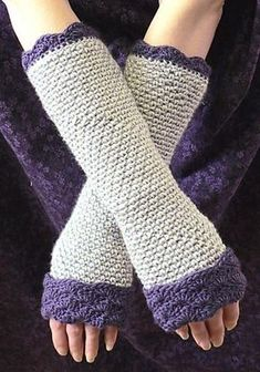 Crochet some Quick and Easy Fingerless Gloves to keep your hands warm during the winter while allowing your fingers to be free for tasks like texting, making phone calls, or playing games on your phone.
