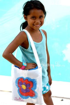 Our all-in-one towel and tote is a clever way to carry your towel to the pool or beach! Convertible Towel To Tote This towel tote is an easy summer project. It would be a great beginning sewing project. You will need one beach towel. The thinner beach towels work best. White fabric for pocket (1/2 yard will do), paint brushes, iron, white paper and DecoArt Ink Effects for decorating. Paint...