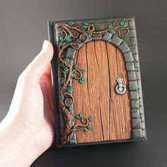 Secret door journal Fairy door Polymer clay journal Unique