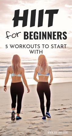 HIIT Workouts for beginners to lose weight! These are 5 beginner-friendly high intensitiy interval training routines that you can do at home or at the gym. HIIT is a type of exercise that allows you to burn fat even after you've done. Hiit At Home, Hiit Workout At Home, At Home Workouts, Workout Plans, Exercise Plans, Hit Exercise, House Workout, Workout At Work, Exercise Videos