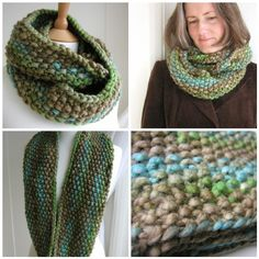 Indie Circular Scarf by Hand Knit  Us 19 5 strands of dk held together  549-640 yards