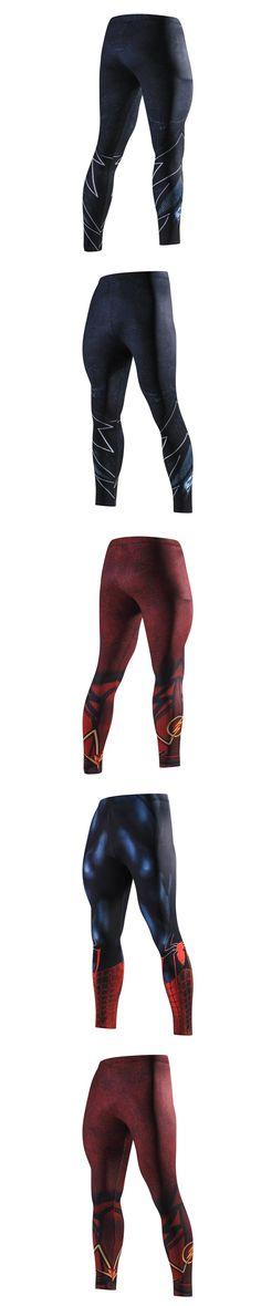 Skinny Sweatpants for Men Compression Pants Men Fashion Leggings Jogger Men 3D Fitness Pants Spiderman Flash Elastic Trousers