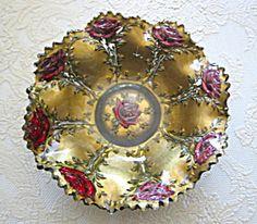 Victorian Goofus Glass Bowl Vase