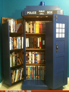 This is everything I want. Books, TARDIS, doctor. so much want.