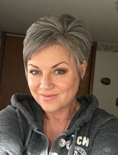 Beautiful Pixie Cuts for Older Women 2019 - The UnderCut Women Pixie Haircut, Haircut For Older Women, Short Pixie Haircuts, Short Hair Cuts For Women, Short Haircut, Pixie Hairstyles, Short Gray Hairstyles, Punk Pixie Haircut, Female Hairstyles