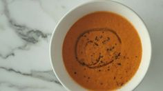 Making tomato soup from scratch doesn't have to be tough. Skip the canned stuff and make our roasted romas version. Spinach Stuffed Mushrooms, Stuffed Peppers, Tomato Soup From Scratch, Soup Recipes, Snack Recipes, Healthy Recipes, Roasted Tomato Soup, 3 Ingredient Recipes, Vegan