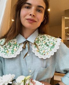 Diy Clothes Bag, Sewing Clothes, Crochet Collar, Lace Collar, Collars For Women, Types Of Collars, Collar Designs, Fashion Details, Fashion Design