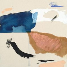 """Sandbar"" Acrylic, dye, and shellac on canvas painting by San Diego based artist Karina Bania. #UpriseArt"