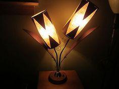 VINTAGE MAJESTIC LAMP TEAK RETRO SHADE MID CENTURY MODERN EAMES ERA ATOMIC