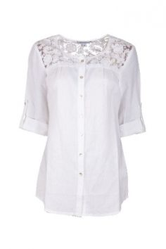 Ajay Women Lace Shirts & Blouses on YOOX. The best online selection of Lace Shirts & Blouses Ajay. YOOX exclusive items of Italian and international designers - Secure payments Curvy Outfits, Curvy Clothes, Shirt Blouses, Shirts, My Wardrobe, Cold Shoulder Dress, Women Wear, Tunic Tops, Lace