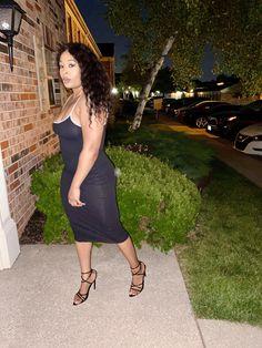 Addison Ribbed Midi with Contrast Straps Dress - Medium