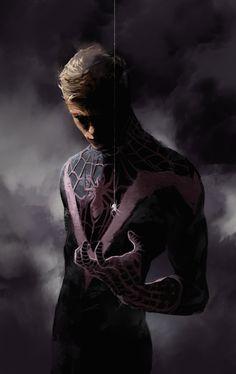 Spiderman, Dave Seguin on ArtStation at http://www.artstation.com/artwork/fuck-god-i-hate-god