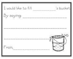 fill the bucket, this would go so well with my bulletin board!