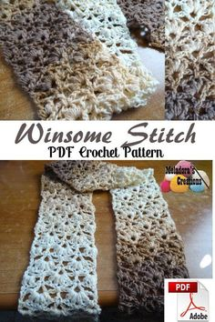 Winsome Stitch Crochet Pattern - #crochet #crocheting #freecrochetpattern #crochetpattern #meladorascreations #instacrochet #crochetaddict #crochetlove #yarn #crochetersofinstagram #crocheted #crochettutorial #crochetvideo #DIY #craft #crochetinspiration #meladora #crochetstitch #lacystitch #lacycrochetscarf #lacycrochetstitch #crochetscarf