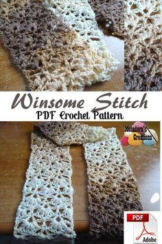 Winsome Stitch Crochet Pattern - #crochet #crocheting #freecrochetpattern #crochetpattern #meladorascreations #instacrochet #crochetaddict #crochetlove #yarn #crochetersofinstagram #crocheted #crochettutorial #crochetvideo #DIY #craft #crochetinspiration #meladora #crochetstitch #lacystitch #lacycrochetscarf #lacycrochetstitch #crochetscarf