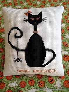 oh, how i love cross-stitched black cats!