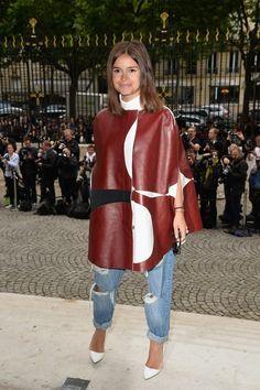 Miroslava Duma at Versace at Paris Fashion Week!