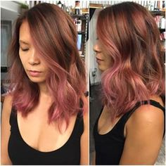 rose gold ombre short hair - Google Search