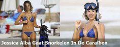 Jessica Alba Gaat Snorkelen In De Caraiben
