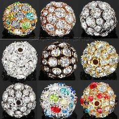 Paving crystal drill hollow round ball beads  Our Charm Beads Are - Premium Quality!  High quality in EU and US quality standard !