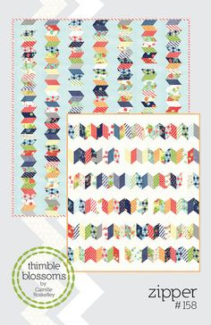 Zipper quilt pattern by Thimble Blossoms - jelly roll quilt pattern