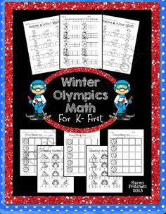Winter Olympics Math - sequencing, missing number, counting on, & tens frames from Mrs. Pritchett's Printables on TeachersNotebook.com -  (8 pages)  - Winter Olympics Morning Work Math packet. 8 worksheets to address counting on, missing numbers, number sequences, and ten frames. 0-20 and 0-100 included. Great for Kindergarten-1st.