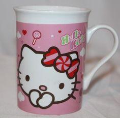 d5ddb18b9 Hello Kitty Sanrio 2012 Coffee Mug Tea Cup Pink 4