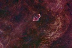 "NGC 6668 - Crescent Nebula ""Credit: Chris Hendren """