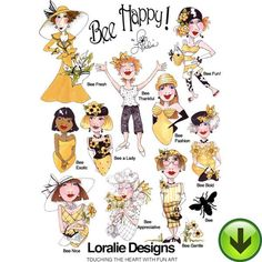 Bee Happy! 1 Machine Embroidery Collection | Download