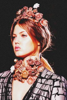 Lindsey Wixson at Giambattista Valli, Haute Couture. Spring 2013