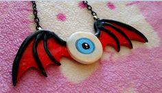Kawaii Halloween Creepy Pastel Goth Eyeball Devil by KreepyKawaii