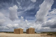 Waterfront cabins in Grândola, Portugal, by Aires Mateus built from reclaimed wood, prefabricated off-site and transported on a lorry. Sustainable Architecture, Contemporary Architecture, Tiny Cabins, Wood Cabins, Small Buildings, Small Houses, Tiny House, Romantic Getaways, View Image