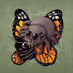 Artist Alex Solis is to blame for this seriously disturbing series of illustrations called 'Adorable Circle of Life.' On the one hand they're a jarring reminder of the brutal & unforgiving realities of the animal kingdom. Creepy Animals, Cute Animals, Art Clipart, Prints Whatsapp, Animal Drawings, Cute Drawings, Alex Solis, Lapin Art, Art Mignon