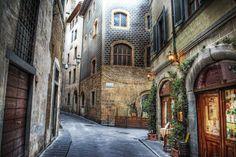 size: Photographic Print: Beautiful Narrow Street in Florence, Italy by Gabriele Maltinti : Visit Florence, Florence Italy, Venice Attractions, Living In Italy, Stone Houses, City Break, Toscana, Custom Wallpaper, Urban Design