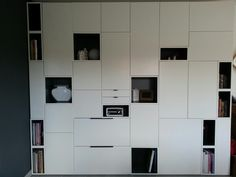 Ikea Metod used as Iounge wall units (Furniture Designs Shelves)