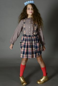 Wellston Plaid Suspender Skirt | Olive Juice Fall 15 Collection