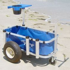 Pvc homemade fishing cart with table folded out from cart for Pvc fishing cart