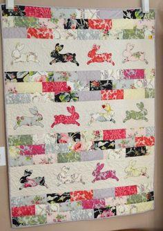 = tutorial = Bunny Bricks Quilt at Jedi Craft Girl, featured at Quilt Inspiration