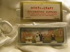 Wedding Party Cake Decorations Vintage 50's by WillowValleyVintage