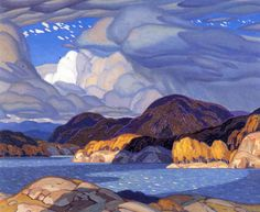 Alfred Joseph Casson, Canadian - October, University of Alberta Art Collection, Canada, Group of Seven Canadian Painters, Canadian Artists, Landscape Art, Landscape Paintings, Tom Thomson, Wow Art, Art Plastique, Oeuvre D'art, Painting Inspiration