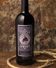 Purple Cowboy Wines - Tenacious Red, a blend of Cabernet Sauvignon and Syrah. I may have to try this!