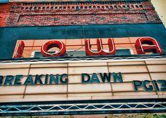 My hometown! The Iowa Theater in Bloomfield, IA