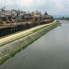"""""""鴨川 Kamogawa River #river #kyoto #japan #일본 #쿄토 #여행 #日本 #京都 #旅行"""" Photo taken by @ishideo on Instagram, pinned via the InstaPin iOS App! http://www.instapinapp.com (06/24/2015)"""