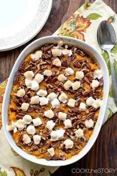 Healthy Sweet Potato Casserole Recipe @anicolesaucier