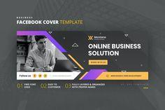 Business Facebook Cover Template AI, EPS Facebook Cover Template, Web Development, Online Business, Web Design, Templates, Design Web, Stencils, Vorlage, Website Designs