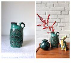 Vintage Vase, Westdeutsche Keramik, Reliefvase Mid Century, Bay, Steuler, Ruscha, Keramik Vasen, Vintageinterior, von moovi auf Etsy