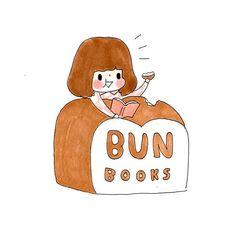 | Bun books x plariex | illustration with printing house logo. http://www.facebook.com/plariex