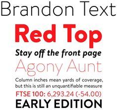 Bold font Brandon Text font sample