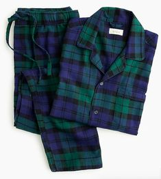 Shop the Flannel pajama set in black watch plaid at J.Crew and see the entire selection of Men's Underwear & Pajamas. Pajamas For Teens, Cute Pajamas, Flannel Pajamas, Comfy Pajamas, Women's Pajamas, Satin Pyjama Set, Pajama Set, Men's Sleepwear & Loungewear, Nightwear